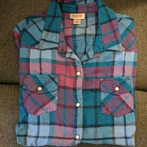 Blue & Purple Women's Flannel shirt